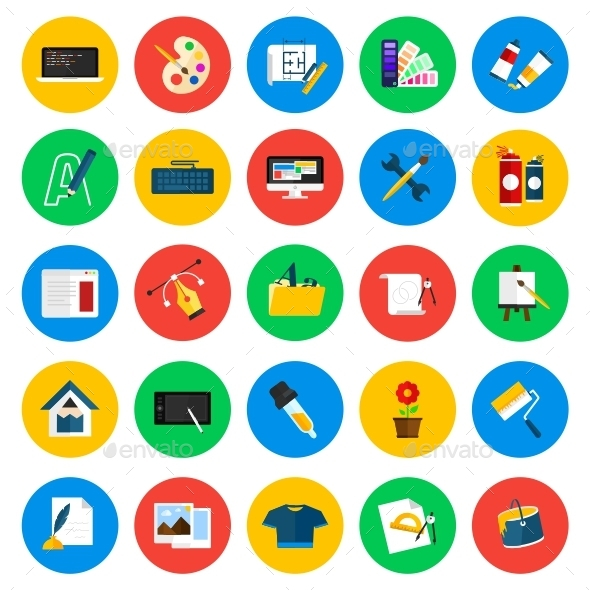GraphicRiver Design Circle Icons 11626083