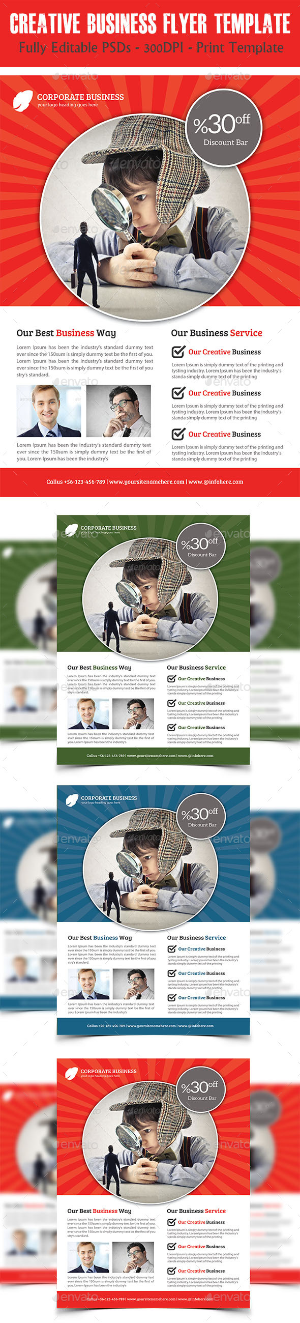 GraphicRiver Creative Corporate Business Flyer 11626573
