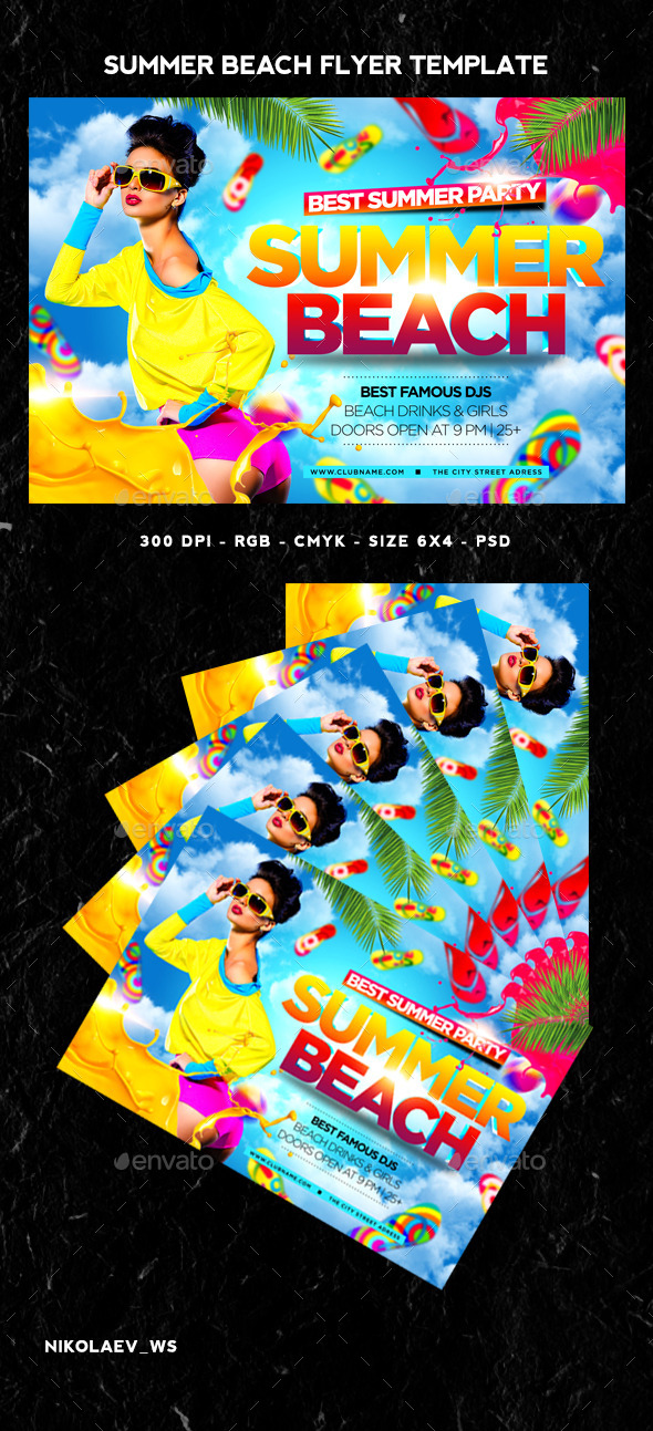 GraphicRiver Summer Beach Flyer 11560736