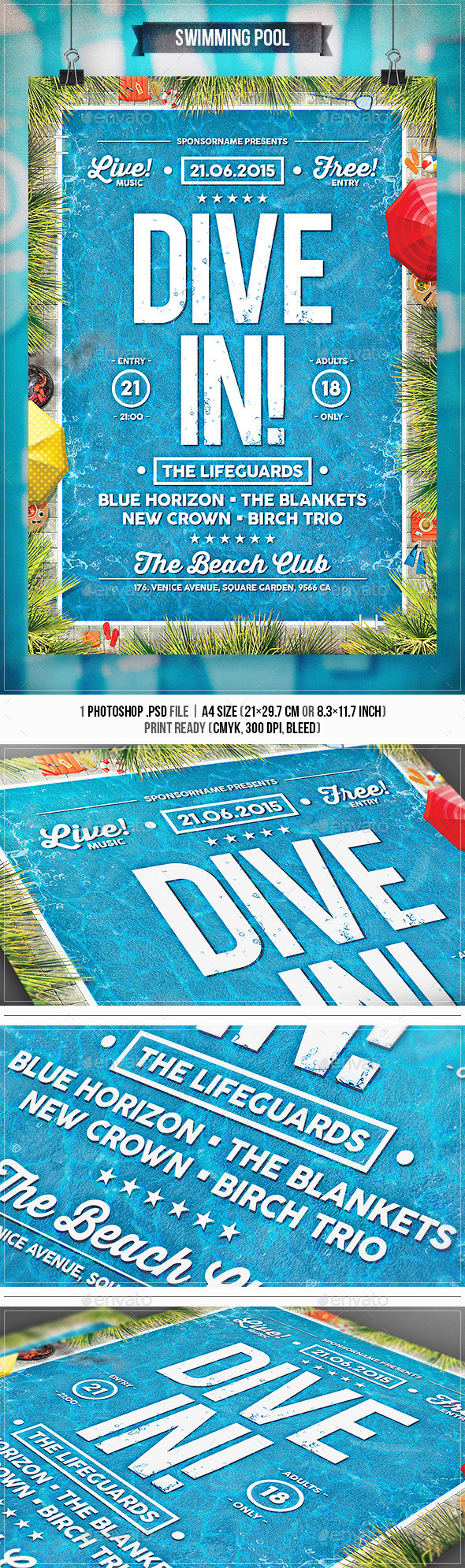 GraphicRiver Swimming Pool Flyer & Poster 11626603