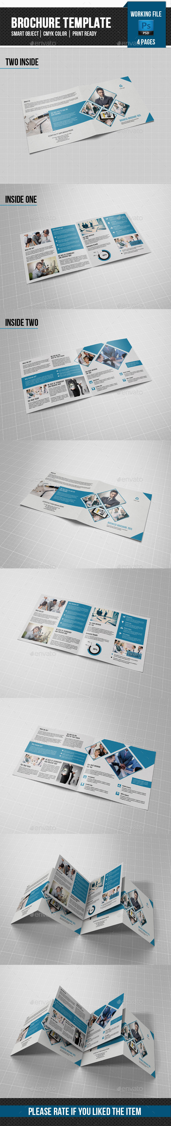 GraphicRiver Corporate Square Bifold Brochure-V66 11627409