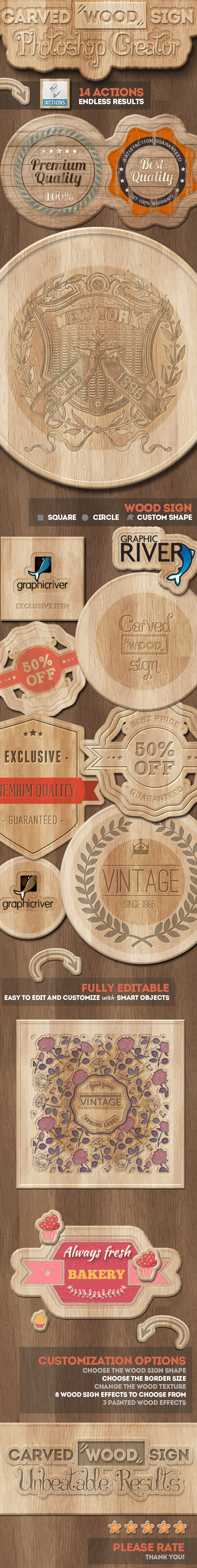 GraphicRiver Carved Wood Sign Photoshop Creator 11627466