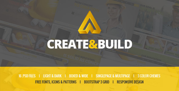 ThemeForest Create & Build Construction & Building template 11627469