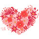 Heart of  Pink and Red Flowers - GraphicRiver Item for Sale