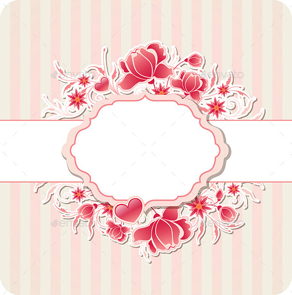 GraphicRiver Heart and Red Flowers 11627775