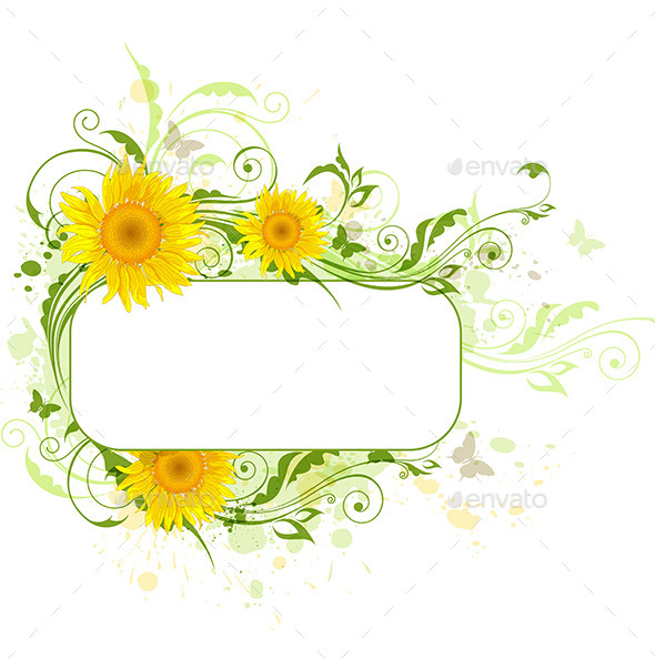 GraphicRiver Background with Sunflowers 11627805