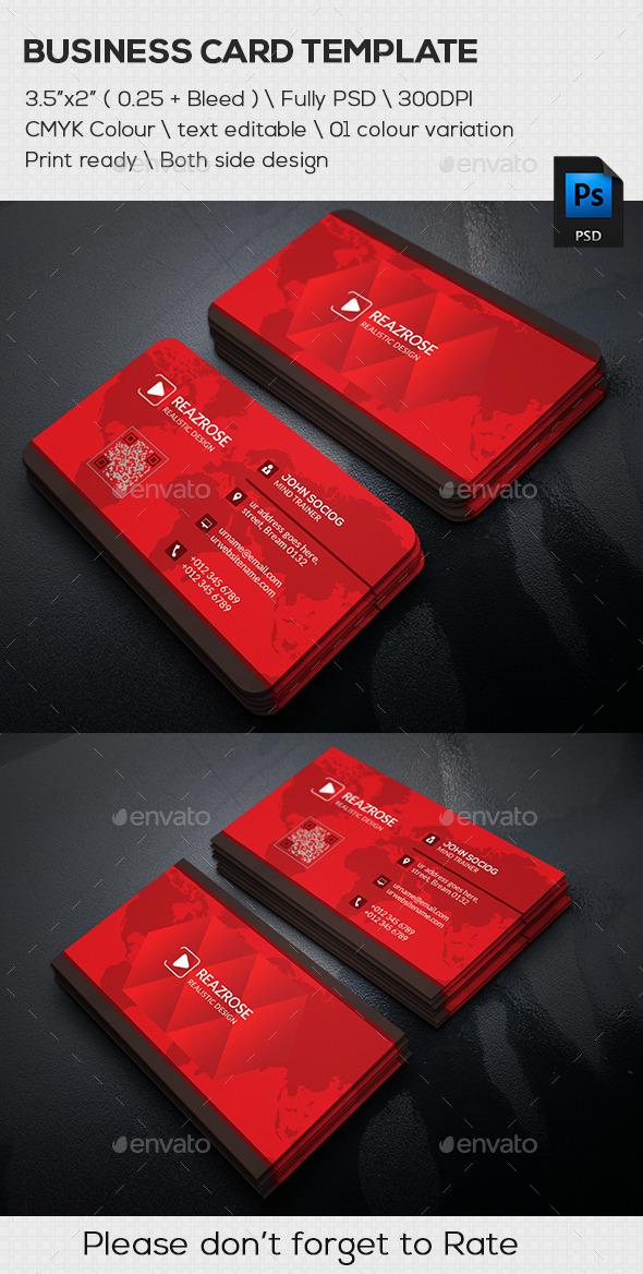 GraphicRiver Corporate Business Card 11627815