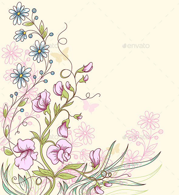 GraphicRiver Background with Sweet Pea 11627828