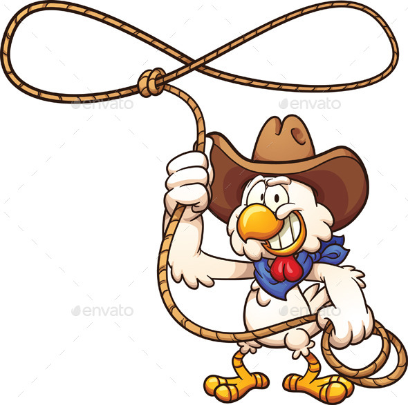 GraphicRiver Cowboy Chicken 11628001
