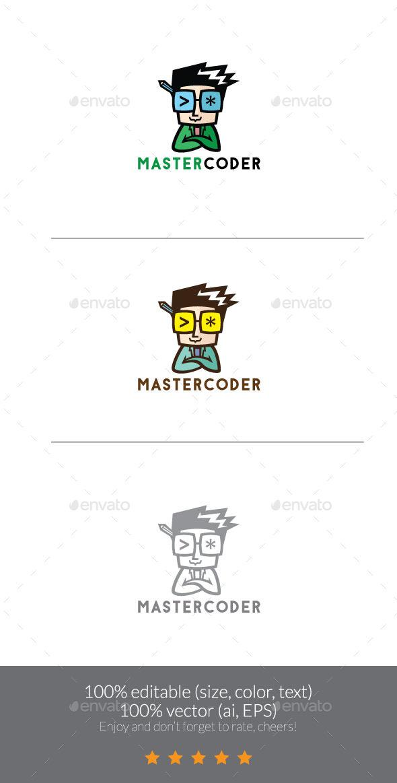 GraphicRiver MasterCoder Logo Mascot 11607716