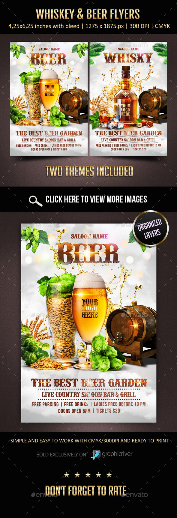 GraphicRiver Whiskey & Beer Flyers 11546799