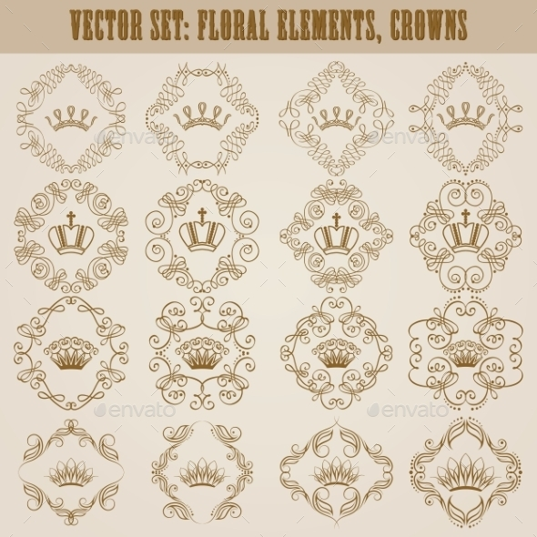 GraphicRiver Victorian Crown and Decorative Elements 11628855
