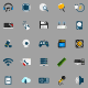Computer Hardware Icons - GraphicRiver Item for Sale