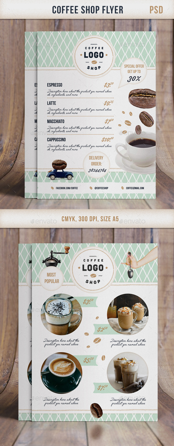 GraphicRiver Flyer Retro CoffeeShop 11562622