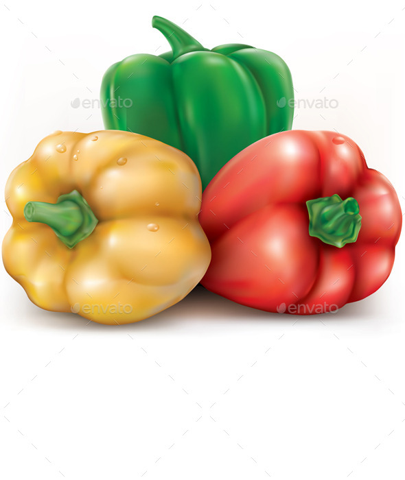 GraphicRiver Colored Bell Pepper 11629027