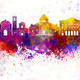 Ancona skyline in watercolor background - PhotoDune Item for Sale