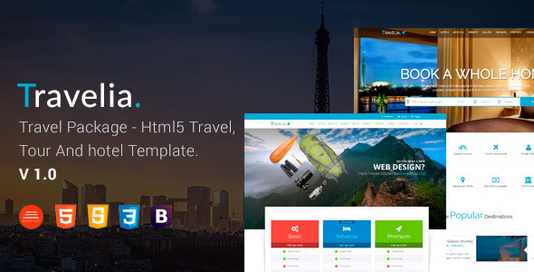 ThemeForest TRAVELIA Travel Package HTML5 Template 11585345