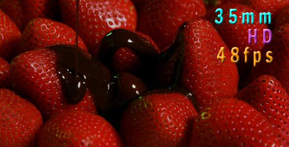 Chocolate On Fresh Strawberries 01