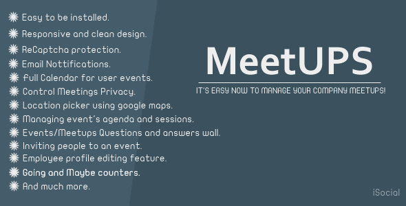 CodeCanyon Meetups Company meetups manager 11588306