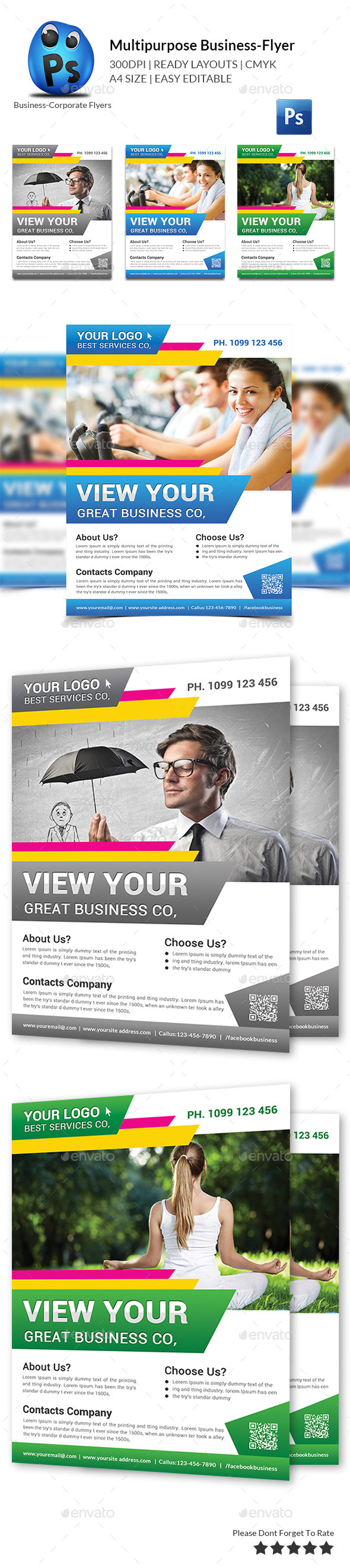 GraphicRiver Multipurpose Business Flyers Templates 11629263