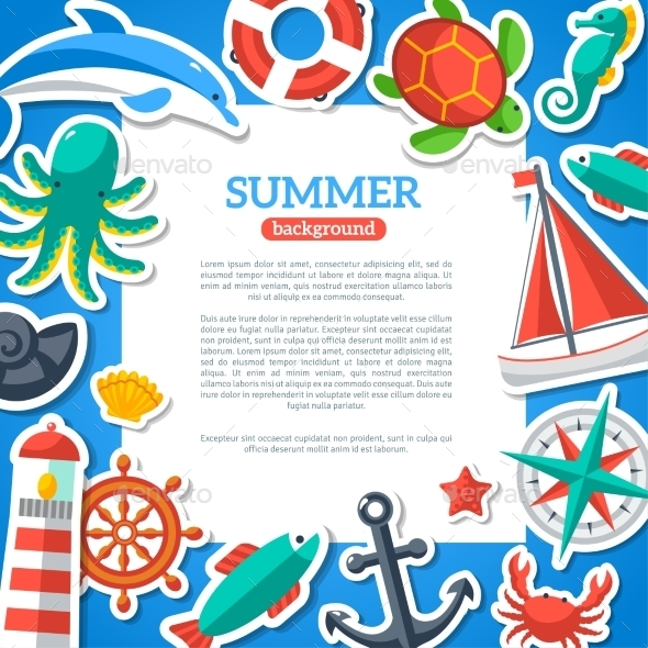 GraphicRiver Summer Concept Flyer 11629369