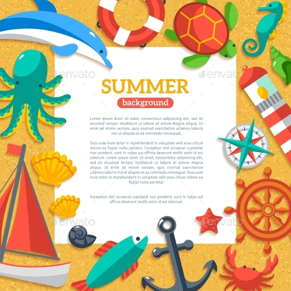 GraphicRiver Summer Concept Flyer 11629378