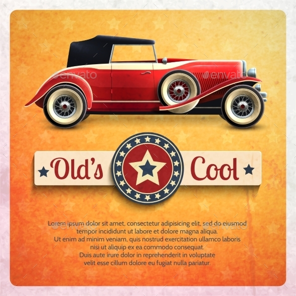 GraphicRiver Retro Car Poster 11629392