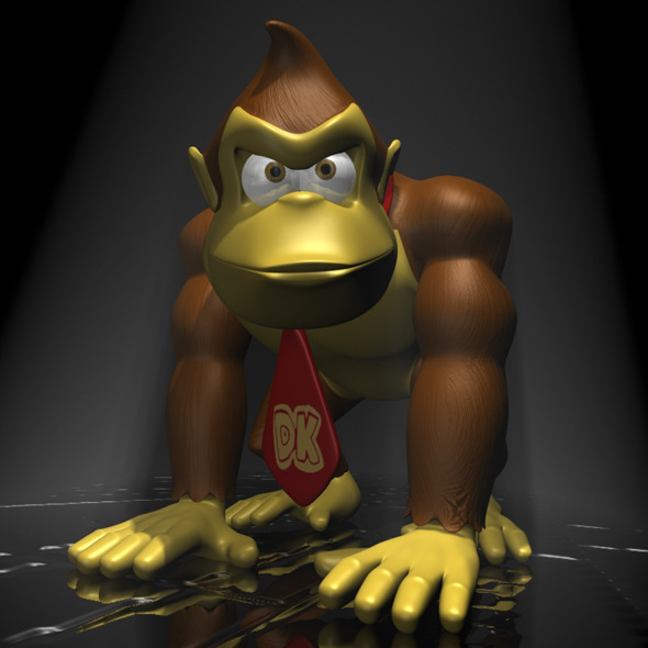 3DOcean Donkey Kong RIGGED 11629440