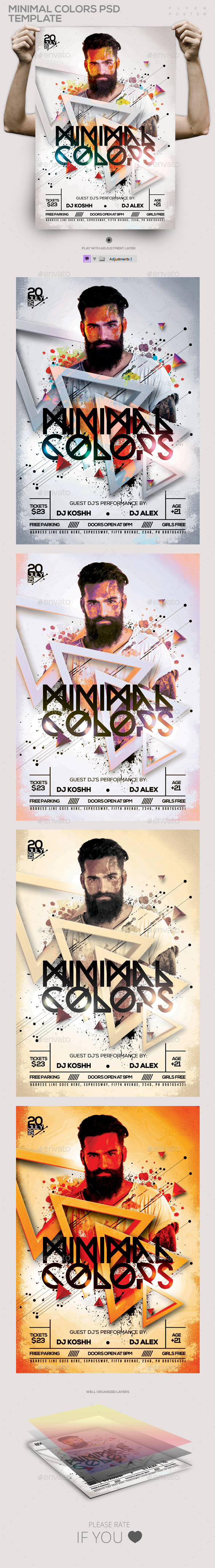 GraphicRiver Minimal Colors PSD Flyer Poster Template 11629476
