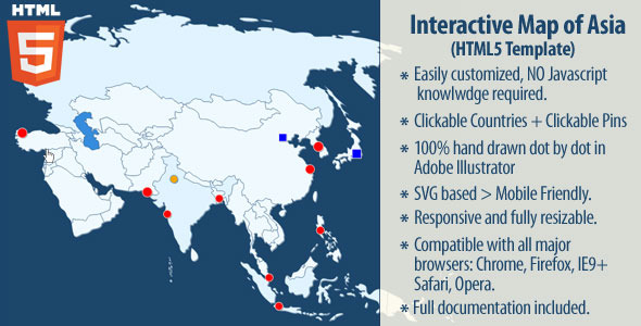 CodeCanyon Interactive Map of Asia 11629477