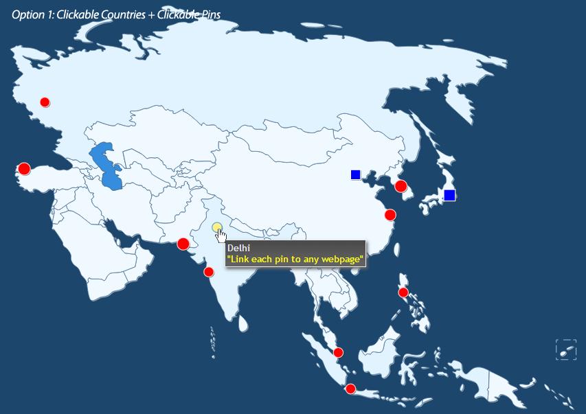 Interactive Asian Map 4