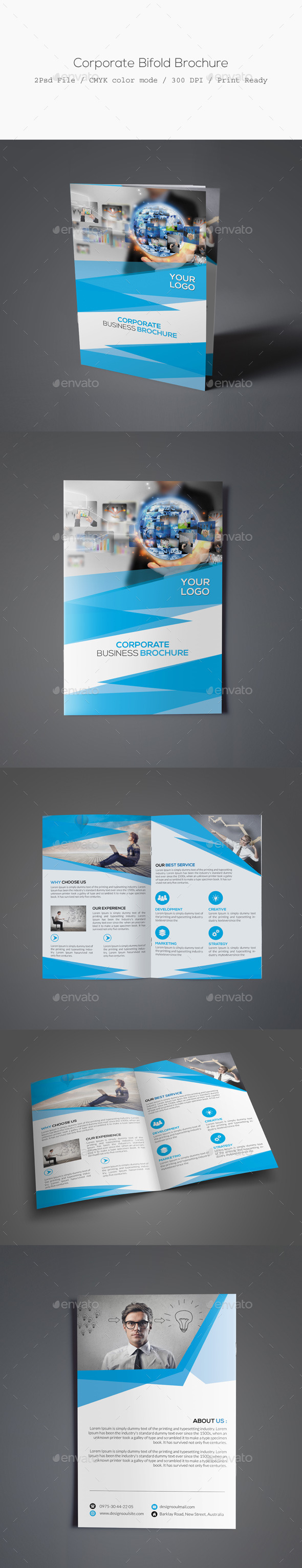 GraphicRiver Corporate Bifold Brochure 11630046