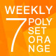 Poly Backgrounds Daily Set for a Week — Orange - GraphicRiver Item for Sale