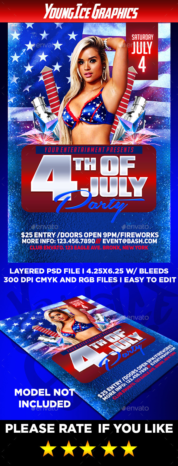 GraphicRiver 4th of July Flyer Template 11630107