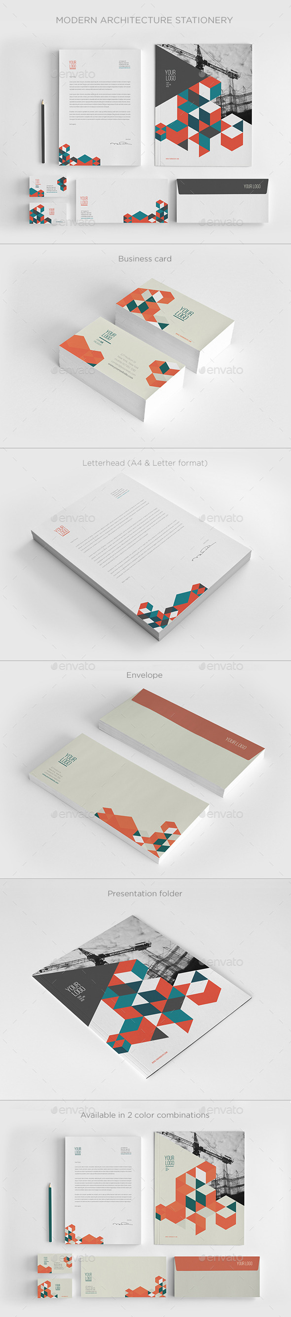 GraphicRiver Modern Architecture Stationery 11630112