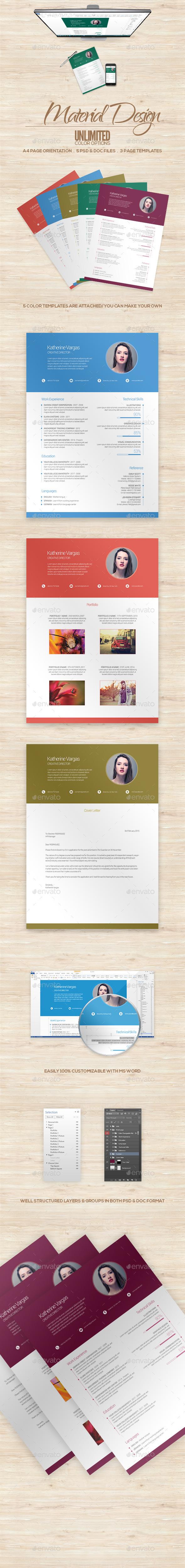 Material Design Resume