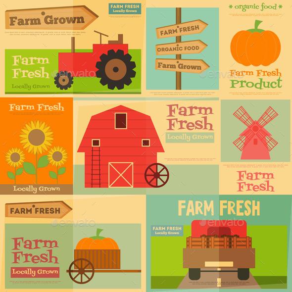 GraphicRiver Farm Posters 11630127