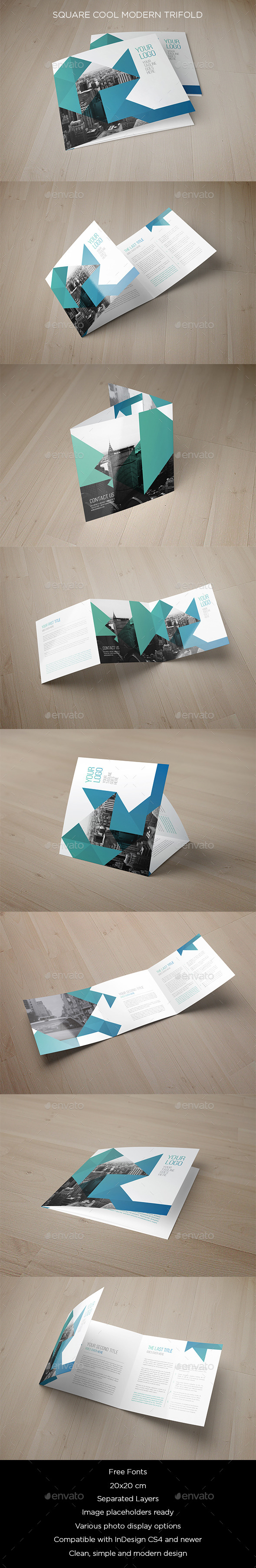 GraphicRiver Square Cool Modern Trifold 11630167