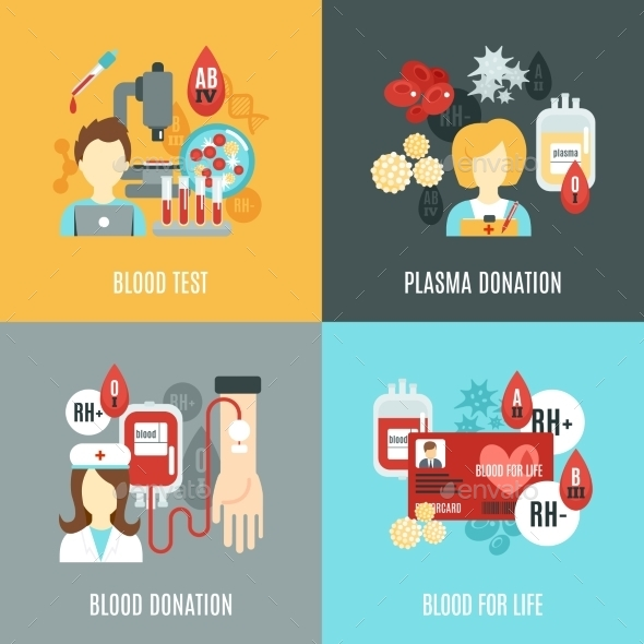 GraphicRiver Donor Flat Set 11630334