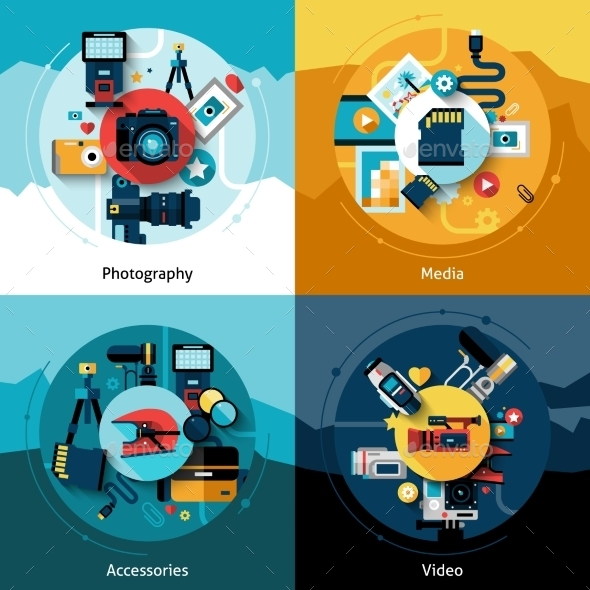 GraphicRiver Camera Design Set 11630342