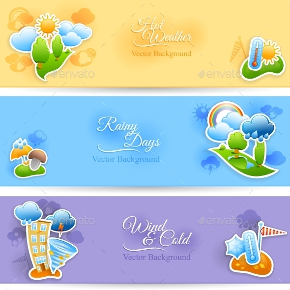 GraphicRiver Weather Background Banners Set 11630393
