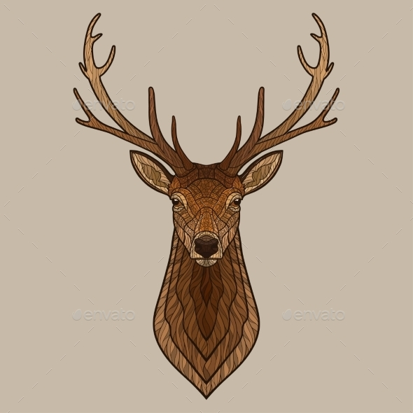 GraphicRiver Deer Head 11630408