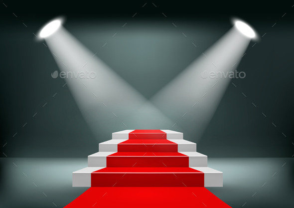 GraphicRiver Showroom Background with a Red Carpet 11631017