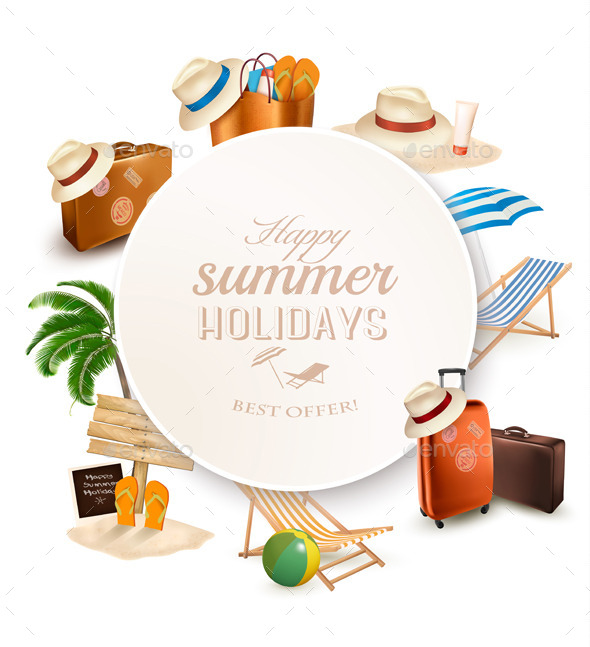 GraphicRiver Set of Vacation Related Icons 11631042