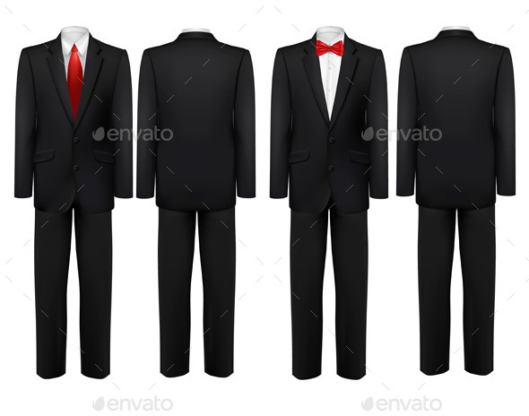 GraphicRiver Black Suit and White Shirt with Ties 11631061