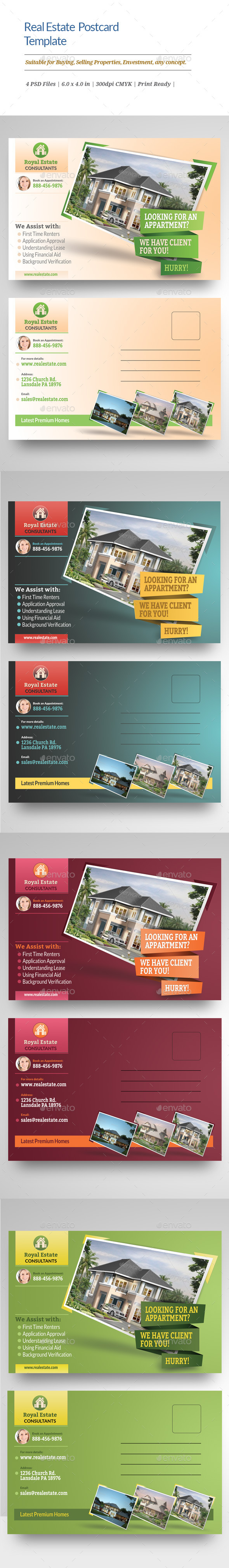 GraphicRiver Real Estate Postcard Templates 11563670