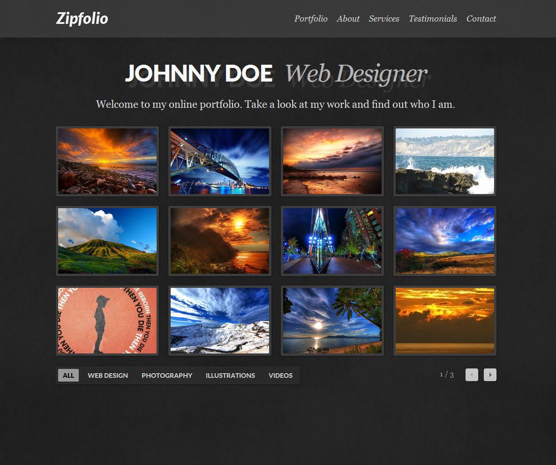 Zipfolio - Single Page Portfolio Template - Zipfolio comes with light and dark styles.