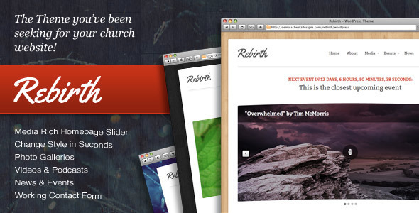 Rebirth - The WordPress Theme for Churches - ThemeForest Item for Sale