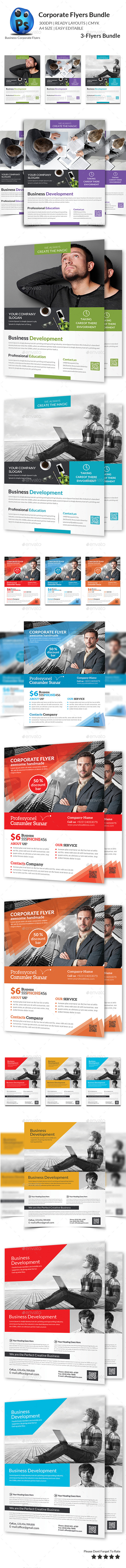 GraphicRiver Corporate Business Flyer Bundle 11635623