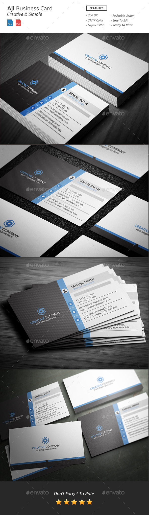 GraphicRiver Aji Corporate Business Card 11636024